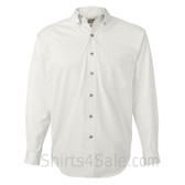 White Long Sleeve Men's Cotton dress shirt