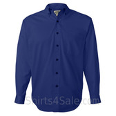 Blue Long Sleeve Men's Cotton dress shirt