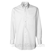 White Long Sleeve men's fashion Twill dress shirt