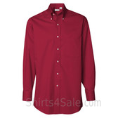 Scarlet Red Long Sleeve men's fashion Twill dress shirt