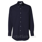 Navy Long Sleeve men's fashion Twill dress shirt