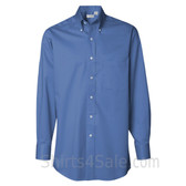 Cobalt Blue Long Sleeve men's fashion Twill dress shirt