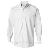 White Silky Poplin collared shirt