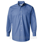 Cerulean Blue Silky Poplin collared shirt