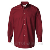 Cardinal Silky Poplin collared shirt