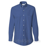 Cerulean Blue Long Sleeve Oxford dress shirt