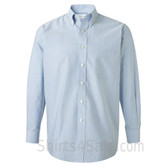 Light Blue Stripe Long Sleeve Oxford dress shirt