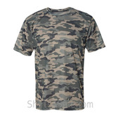 Badger Sport Adult Unisex Short Sleeve Camo Tee Shirt - Sand