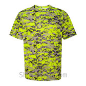 Safety Yellow Badger Men's Short Sleeve Sublimated Camo Tee