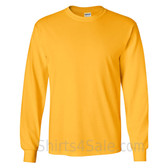 Gildan Ultra Cotton - 100% Cotton Long-Sleeve T-Shirt - Golden Yellow