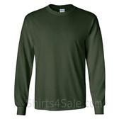 Gildan Ultra Cotton - 100% Cotton Long-Sleeve T-Shirt - Dark Green