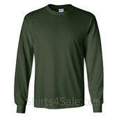 Gildan Ultra Cotton - 100% Cotton Long-Sleeve T-Shirt - Dark Green