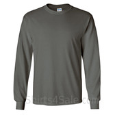 Gildan Ultra Cotton - 100% Cotton Long-Sleeve T-Shirt - Charcoal