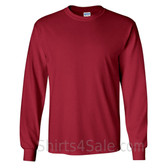 Gildan Ultra Cotton - 100% Cotton Long-Sleeve T-Shirt - Cardinal