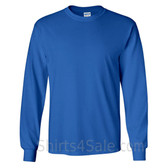 Gildan Ultra Cotton - 100% Cotton Long-Sleeve T-Shirt - Blue