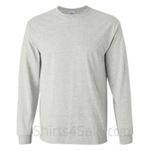 Gildan Ultra Cotton - 100% Cotton Long-Sleeve T-Shirt - Light Gray