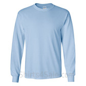 Gildan Ultra Cotton - 100% Cotton Long-Sleeve T-Shirt - Light Blue