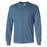 Gildan Ultra Cotton - 100% Cotton Long-Sleeve T-Shirt - Indigo Blue