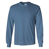 Gildan Ultra Cotton - 100% Cotton Long-Sleeve T-Shirt - Indigo Blue