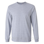 Gildan Ultra Cotton - 100% Cotton Long-Sleeve T-Shirt - Gray