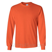 Gildan Ultra Cotton - 100% Cotton Long-Sleeve T-Shirt - Dark Orange