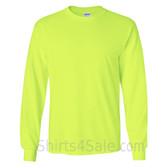 Gildan Ultra Cotton - 100% Cotton Long-Sleeve T-Shirt - Safety Green