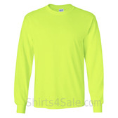 Gildan Ultra Cotton - 100% Cotton Long-Sleeve T-Shirt - Safety Green