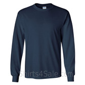 Gildan Ultra Cotton - 100% Cotton Long-Sleeve T-Shirt - Navy
