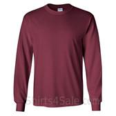 Gildan Ultra Cotton - 100% Cotton Long-Sleeve T-Shirt - Maroon