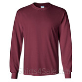 Gildan Ultra Cotton - 100% Cotton Long-Sleeve T-Shirt - Maroon