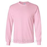 Gildan Ultra Cotton - 100% Cotton Long-Sleeve T-Shirt - Light Pink
