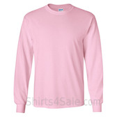 Gildan Ultra Cotton - 100% Cotton Long-Sleeve T-Shirt - Light Pink