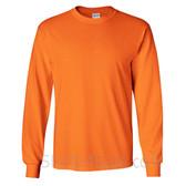 Gildan Ultra Cotton - 100% Cotton Long-Sleeve T-Shirt - Safety Orange