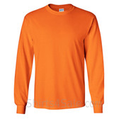 Gildan Ultra Cotton - 100% Cotton Long-Sleeve T-Shirt - Safety Orange