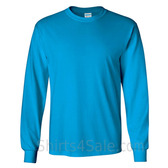 Gildan Ultra Cotton - 100% Cotton Long-Sleeve T-Shirt - Sky Blue