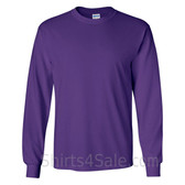 Gildan Ultra Cotton - 100% Cotton Long-Sleeve T-Shirt - Purple