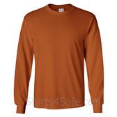 Gildan Ultra Cotton - 100% Cotton Long-Sleeve T-Shirt - Tan