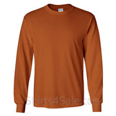 Gildan Ultra Cotton - 100% Cotton Long-Sleeve T-Shirt - Tan