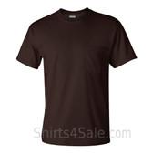 Dark Brown Cotton mens t shirt with a Pocket