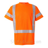 Orange Work in safety Short Sleeve T-Shirt
