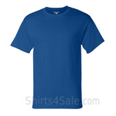 Champion Blue Short Sleeve Tagless men's tee shirt