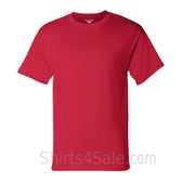 Champion Red Short Sleeve Tagless men's tee shirt