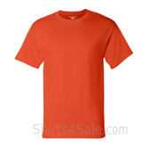 Champion Dark Orange Short Sleeve Tagless men's tee shirt