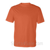 Dark Orange T-Shirt with Sport Shoulders