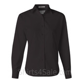 Black Stain Resistant Women's Dress Shirt