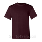 Maroon Short Sleeve Performance tee shirt for men
