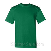 Green Short Sleeve Performance tee shirt for men