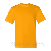 Gold Yellow Short Sleeve Performance tee shirt for men