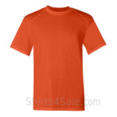 Dark Orange Short Sleeve Performance tee shirt for men