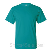 Teal Performance t shirt for men